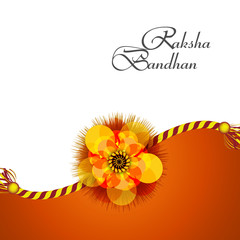 Beautiful Raksha Bandhan background colorful card design