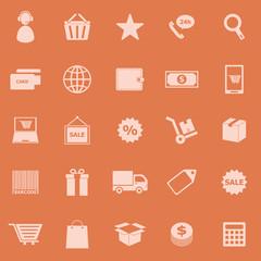 E-commerce color icons on orange background