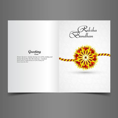 Beautiful greeting card stylish rakhi colorful vector design