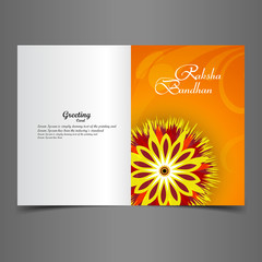 Vector illustration Indian festival Raksha Bandhan greeting card