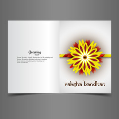 Greeting card rakhi vector Indian festival colorful design