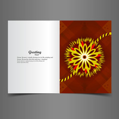 Vector Indian festival greeting card Raksha Bandhan colorful rak