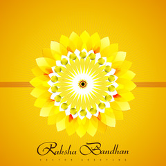 Beautiful Raksha Bandhan bright colorful card background vector