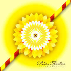 Raksha bandhan for stylish rakhi colorful card design background