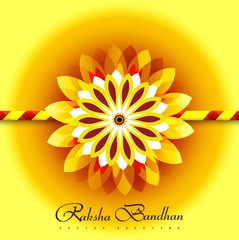 Vector illustration Raksha Bandhan for rakhi colorful background