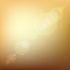 Orange Soft Colored Abstract Background with Lens Flare Light.
