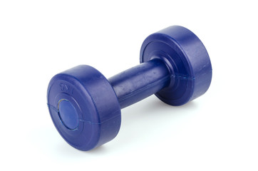Dumbbells isolated white background