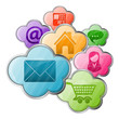 Online Shopping & Cloud Computing Concept