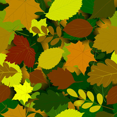 autumn seamless leaves pattern