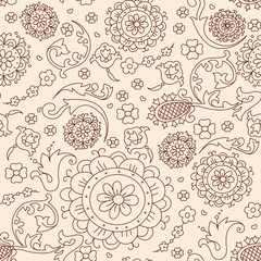 Vector abstract floral pattern