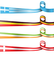 flag ribbon set