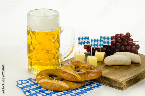 canvas print picture oktoberfest snack
