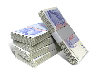British Pound Sterling Notes Bundles Stack