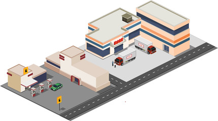 Gas Station and Supermarket