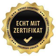 Echt mit Zertifikat - Echtheit garantiert - gold