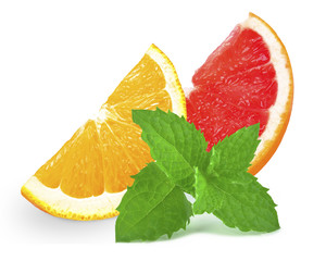 grapefruit, orange and mint