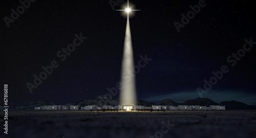 Leinwanddruck Bild Chistmas Stable In Bethlehem