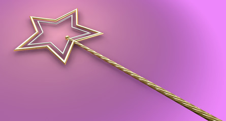 Gold And Silver Magic Wand
