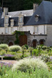 garden and chateau La Chatonniere near Villandry. Loire Valley