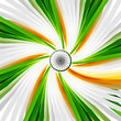Indian Flag swirl wave with Asoka wheel on colorful background v