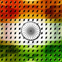 15th of August beautiful indian flag texture colorful illustrati