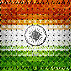 Indian flag colorful Independence Day texture background