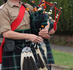 The Playing of Traditional Scottish Highland Bagpipes.