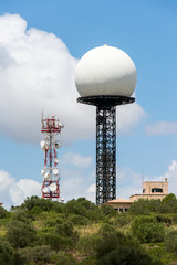Radar on the island of Majorca