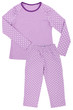 Pink childrens girls pajama set isolated on white - 67818643