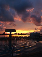 Beautiful sunset in Miami