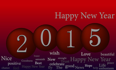 Happy new year illustration background