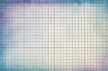 Old vintage dirty graph paper