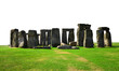 Historical monument Stonehenge on white background