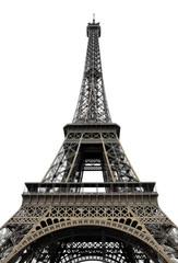 Eifel Tower on white background