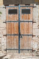 Wooden door. Altamura. Puglia. Italy.