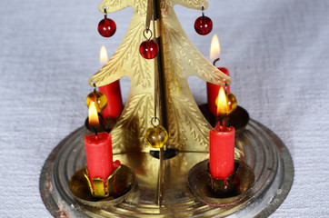 christmas candle stick