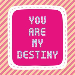 You are my destiny2