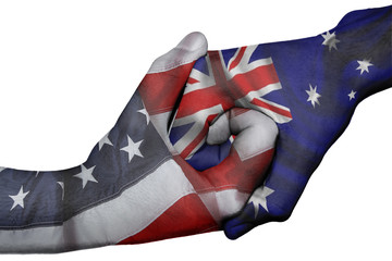 Handshake between United States and Australia