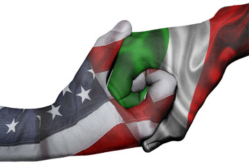 Handshake between United States and Italy