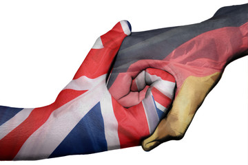 Handshake between United Kingdom and Germany