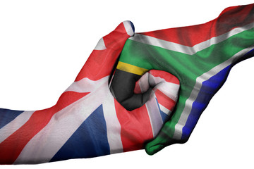 Handshake between United Kingdom and South Africa