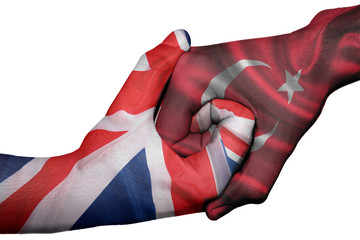 Handshake between United Kingdom and Turkey