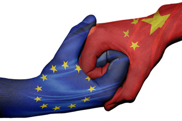 Handshake between European Union and China
