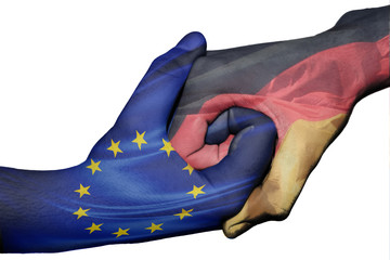 Handshake between European Union and Germany