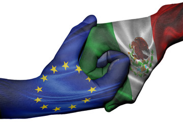 Handshake between European Union and Mexico