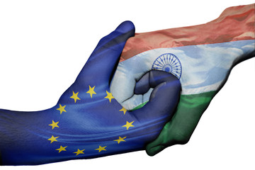 Handshake between European Union and India