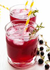 Cold refreshing berry drink
