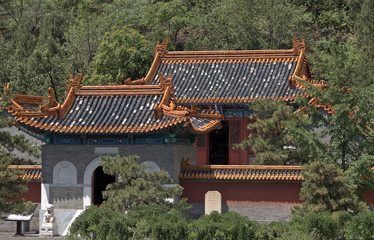 Buddhist temple at the Great Wall, Juyongguan, China