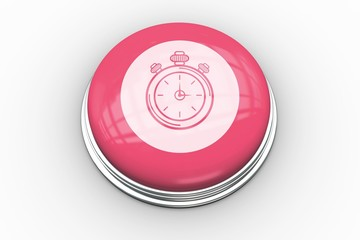 Stopwatch graphic on pink button