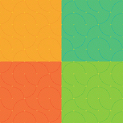 Circle seamless pattern. Vector illustration
